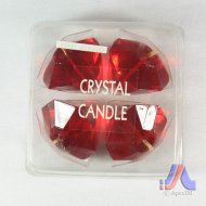 Crystal Candle - 4 Pcs. Diamond Shape