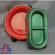 Dog Dish 2 Compartment Rect.