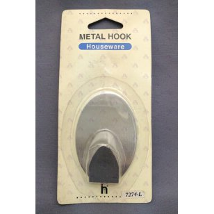 METAL HOOK OVAL LARGE 1PC/CARD