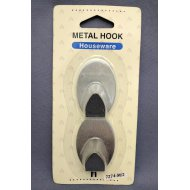 Metal Hook Oval Medium 2Pcs/Card