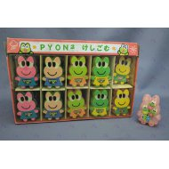 MINI ERASER FROG 40 PCS/BOX