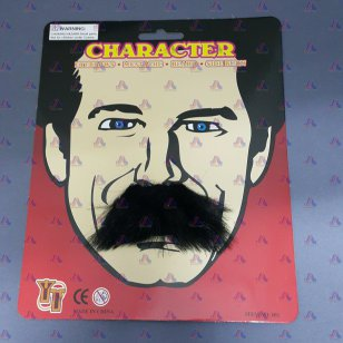 CHARACTER MUSTACHE 1 PC./CARD