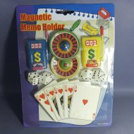 CASINO MAGNETIC MEMO HOLDER