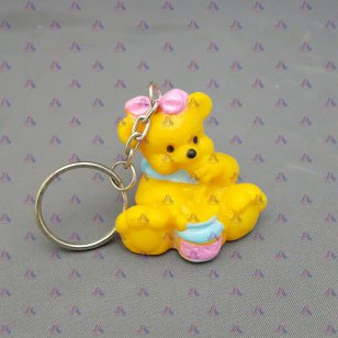 BEAR W/ HONEY KEYCHAIN 6 PCS/CARD