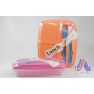Lunch Box w/ Fork & Knife