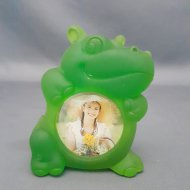 Frosted Animal Photo Frame Hippo