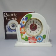Faux Porcelain Finish Quartz Clock
