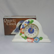 Faux Porcelain Finish Clock