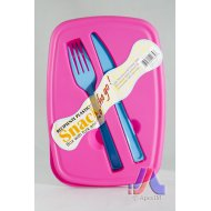 Snack Box w/ Fork & Knife