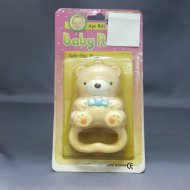 Baby Rattle Bear Pink