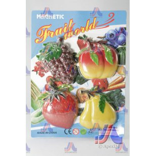 S/4 FRUIT MAGNETS (GRAPES,STRAWBERRY)