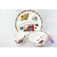 CHILDREN DINNER SET FARM